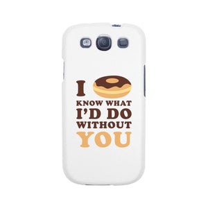 I Doughnut Know Black Phone Case Cute Graphic Design Slim