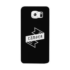 Camper Black Cute Graphic Phone Case Gift Idea For Camping Lover