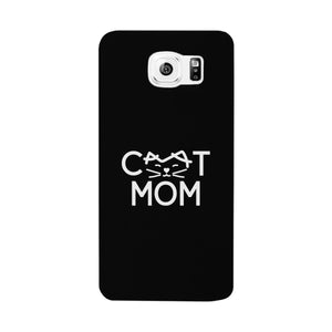 Cat Mom Black Phone Case Unique Graphic Slim Fit For Cat Lovers