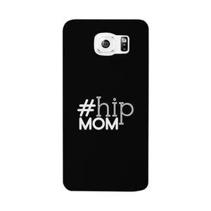 Hip Mom Black Phone Case Cute Letter Printed For Young Mom