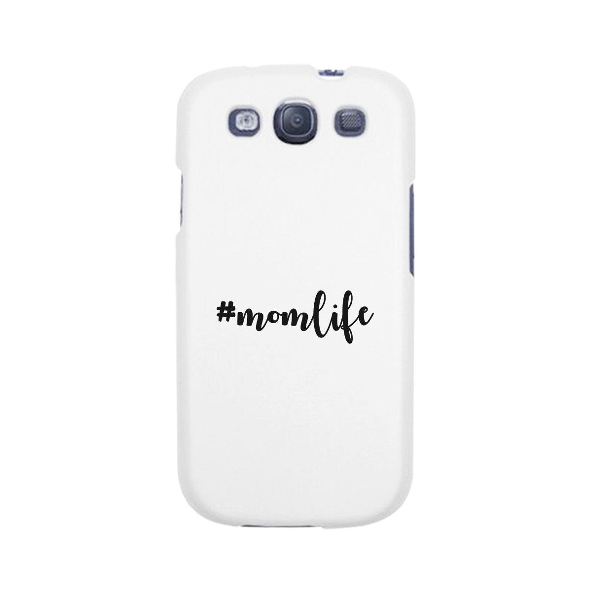 Momlife White Phone Case Trendy Design Ultra Slim Rubber Coat