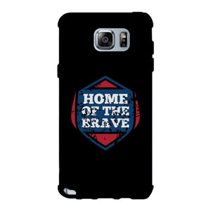 Home Of The Brave Black Phone Case