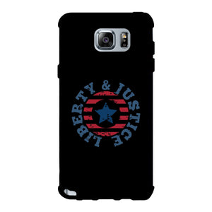 Liberty & Justice Black Phone Case
