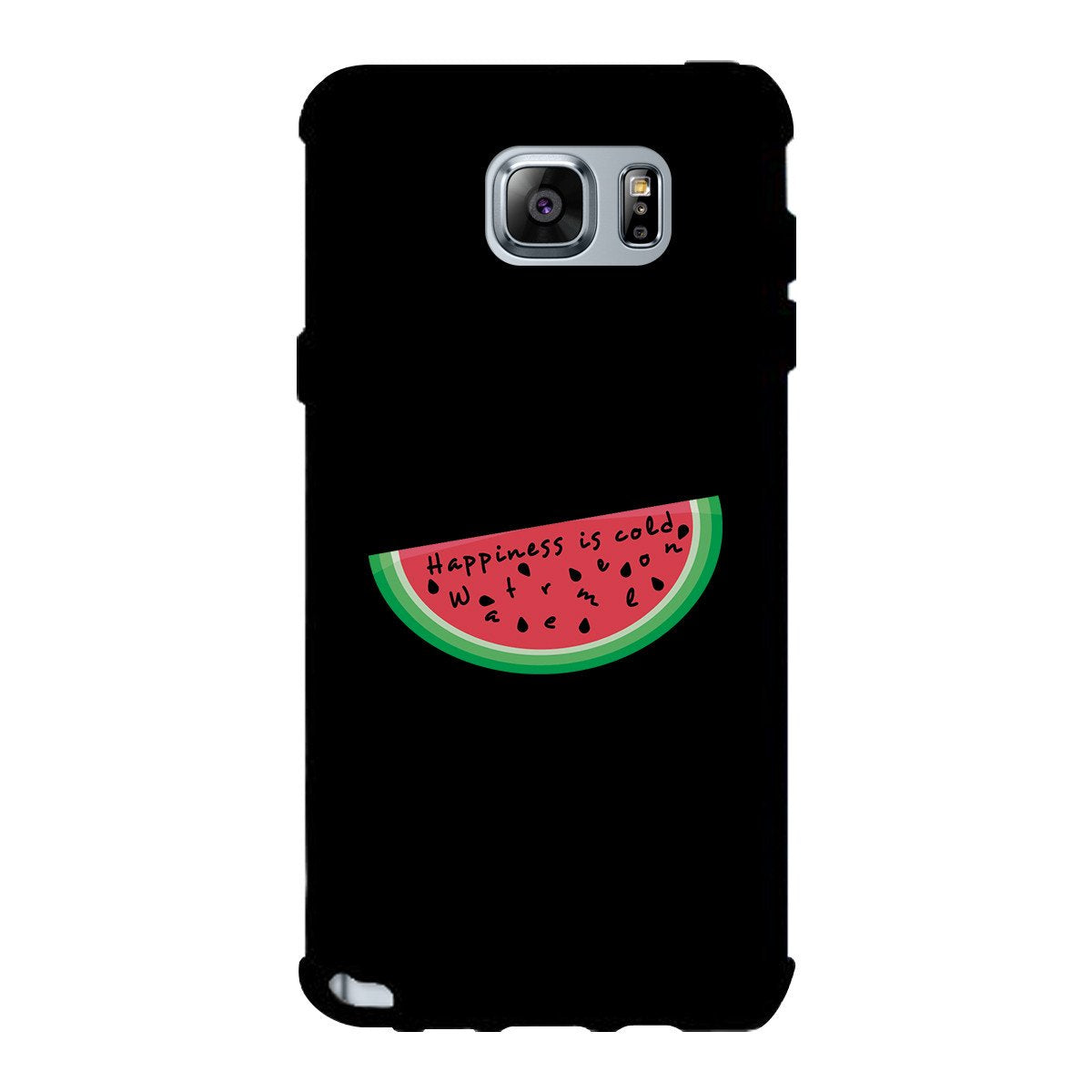 Happiness Is Cold Watermelon Black Phone Case