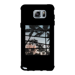 Palm Trees Split Black Phone Case