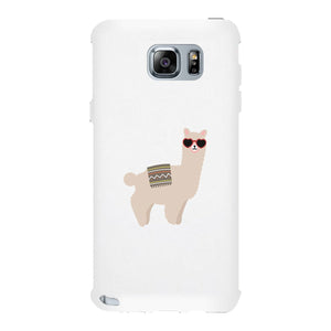 Llamas With Sunglasses - White Phone Case