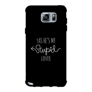 He's My Stupid Lover-Right Black Phone Case
