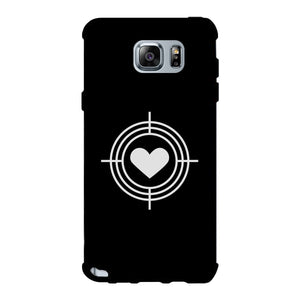 To Heart Target-Right Black Phone Case