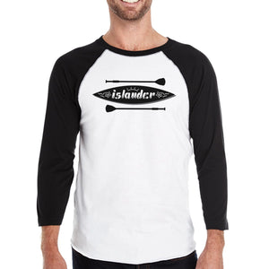 Islander Paddle Board Mens Lightweight Summer Cotton Baseball Tee