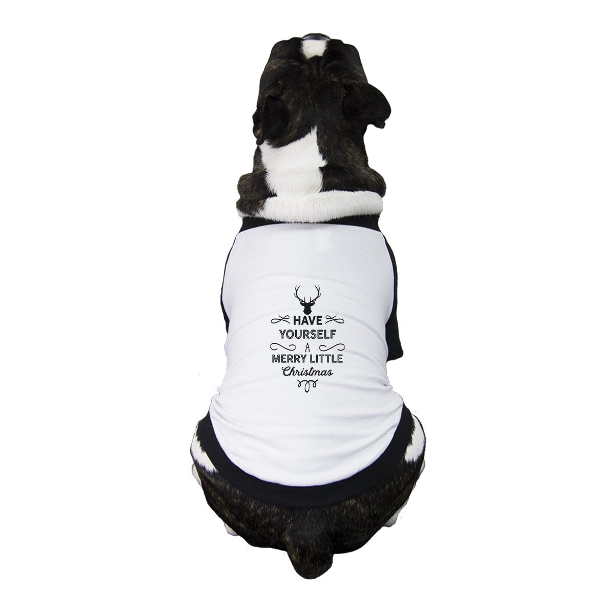 Have Yourself A Merry Little Christmas Pets Black And White Baseball Shirt