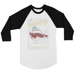 Traveling To Live Mens Baseball Shirt