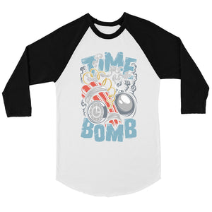 Time Bomb Mens Baseball Shirt