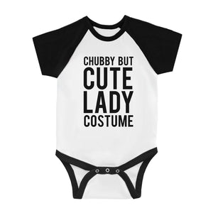 Chubby But Cute Lady Costume Infant Baseball Shirt