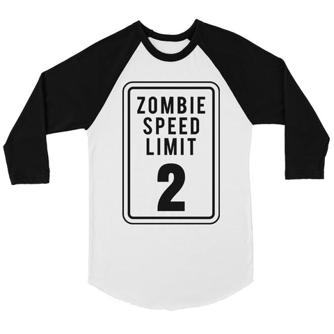 Zombie Speed Limit Womens Baseball Tee