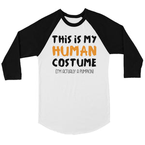 This Is My Human Costume Womens Baseball Tee