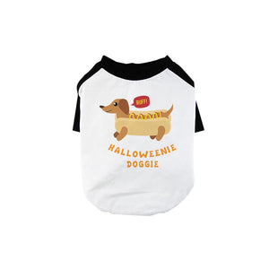 Halloweenie Doggie Pet Baseball Shirt for Small Dogs