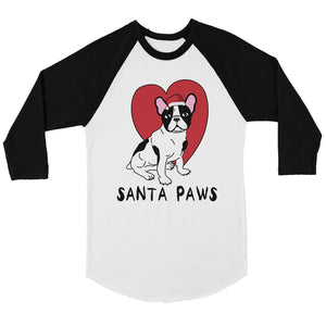 Santa Paws Mens Baseball Shirt