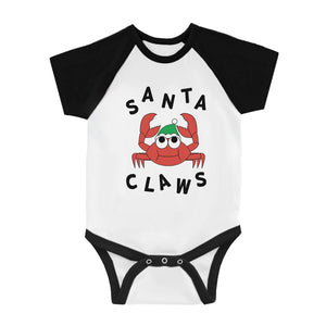 Santa Claws Crab Infant Baseball Shirt