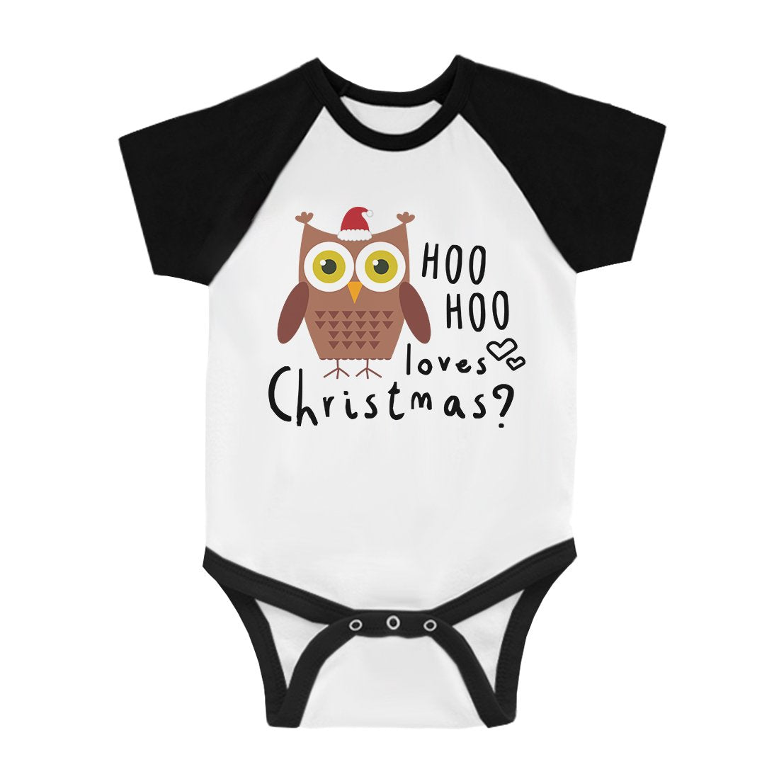 Hoo Christmas Owl Infant Baseball Shirt