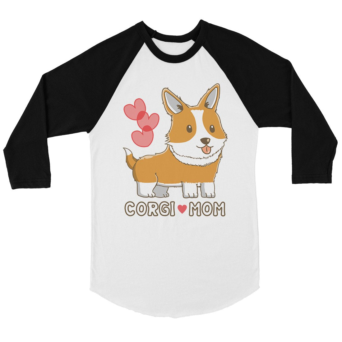 Corgi Mom Womens Baseball Tee Cute Raglan Shirt Corgi Lover Gifts