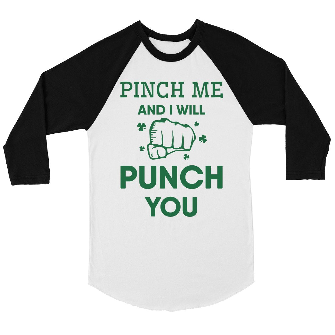 Pinch Me Punch You Mens Baseball Shirt For St Patrick's Day