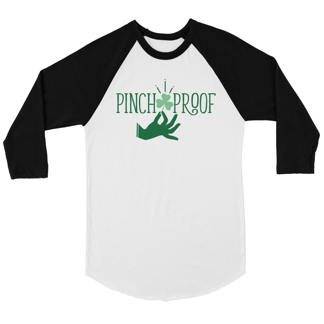 Pinch Proof Clover Womens Baseball Tee For St Patrick's Day Shirt