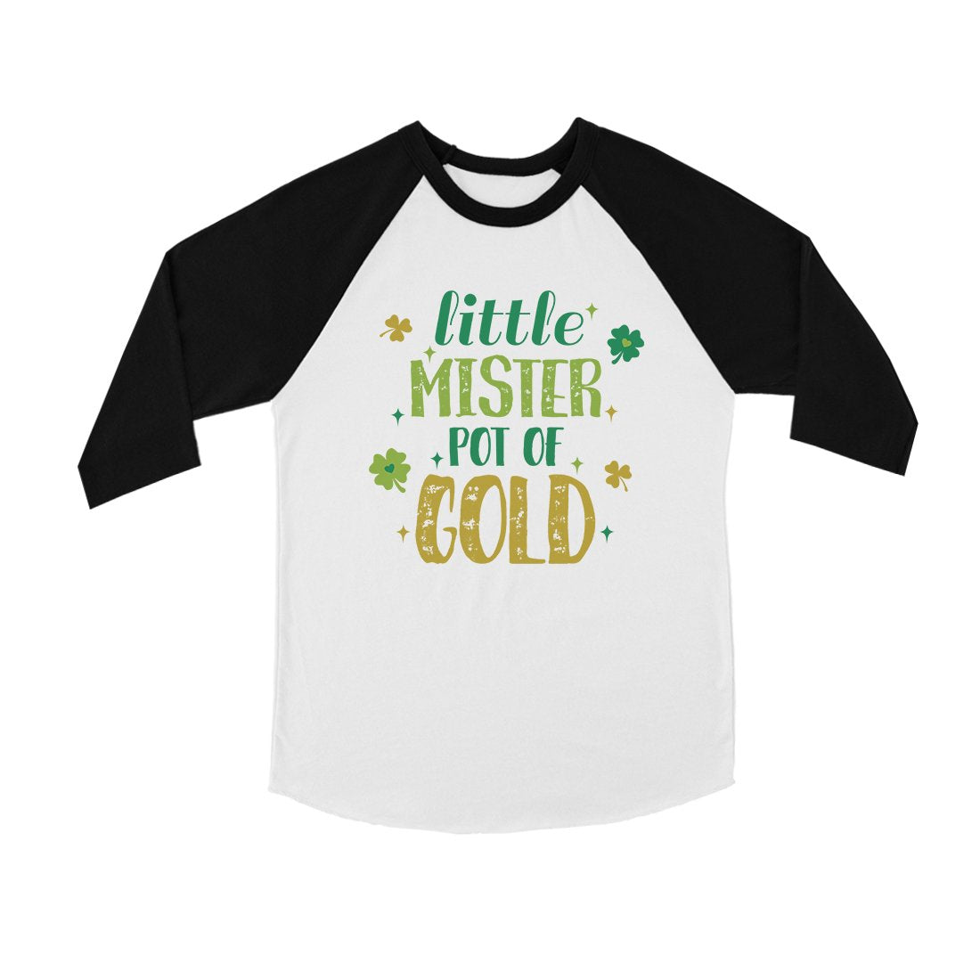 Little Mister Pot Of Gold Youth Baseball Jersey For St Patricks Day