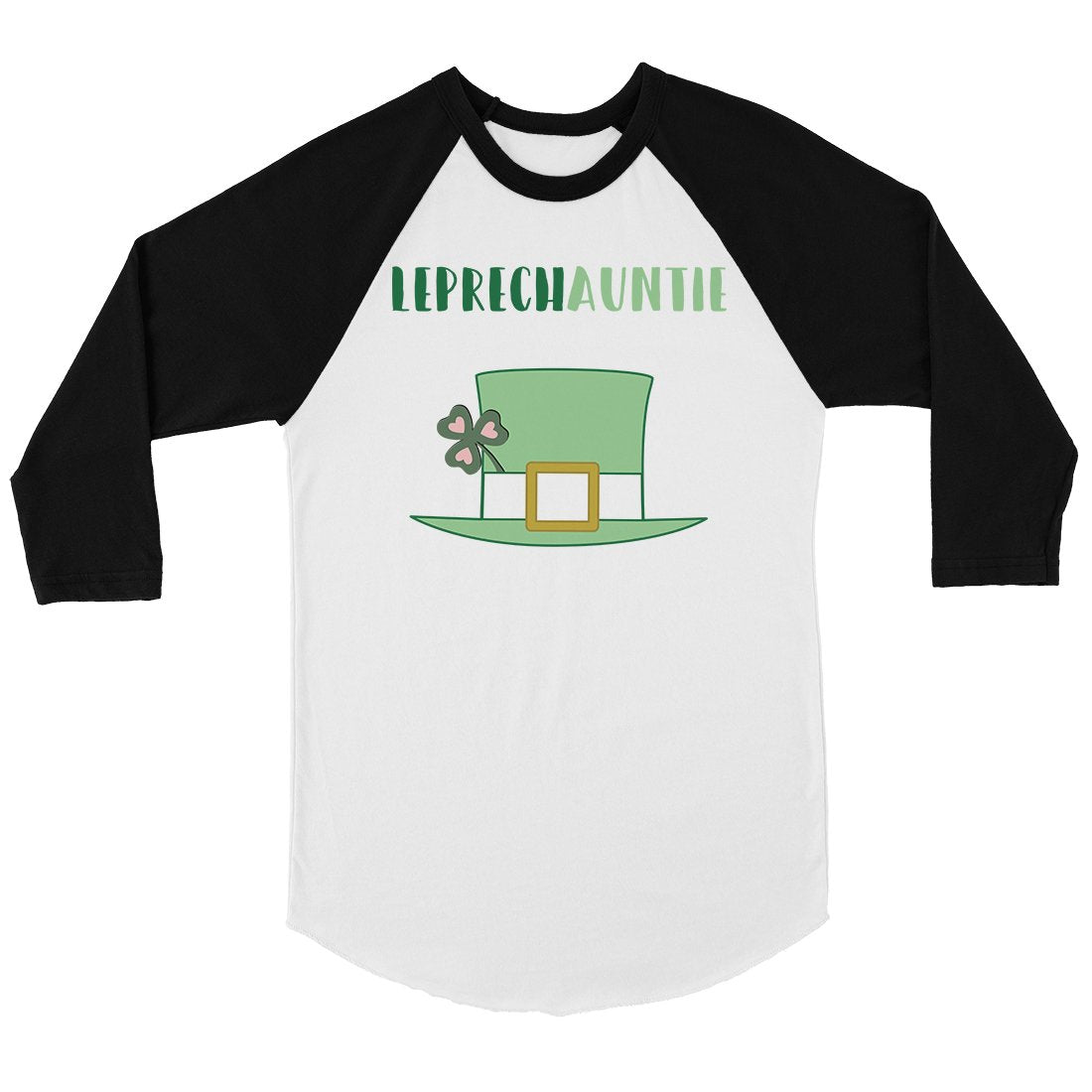 Leprechauntie Aunt Womens Baseball Tee Shirt Funny Irish Aunts Gift