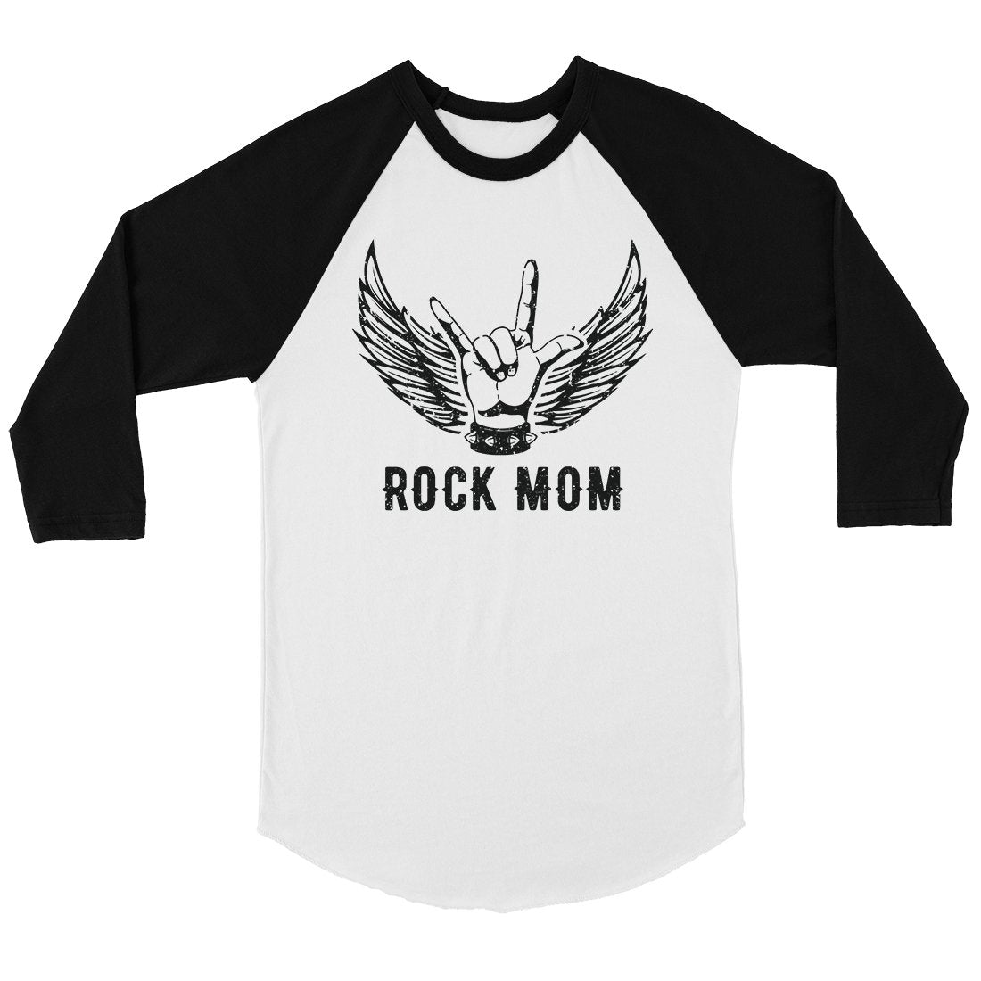 Rock Mom Womens Baseball Raglan Shirt Cute Mom Gift For Mothers Day