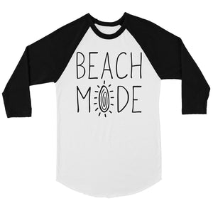 365 Printing Beach Mode Mens Baseball Shirt Summer Vacation Mode Raglan Tee Gift