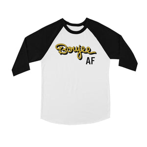 365 Printing Boujee AF Youth Baseball Shirt Funny Saying Raglan Tee For Teens