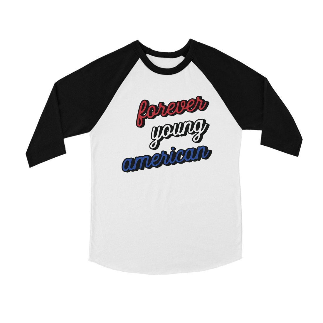 365 Printing Forever Young American Youth Baseball Tee 4th of July Outfit Gift