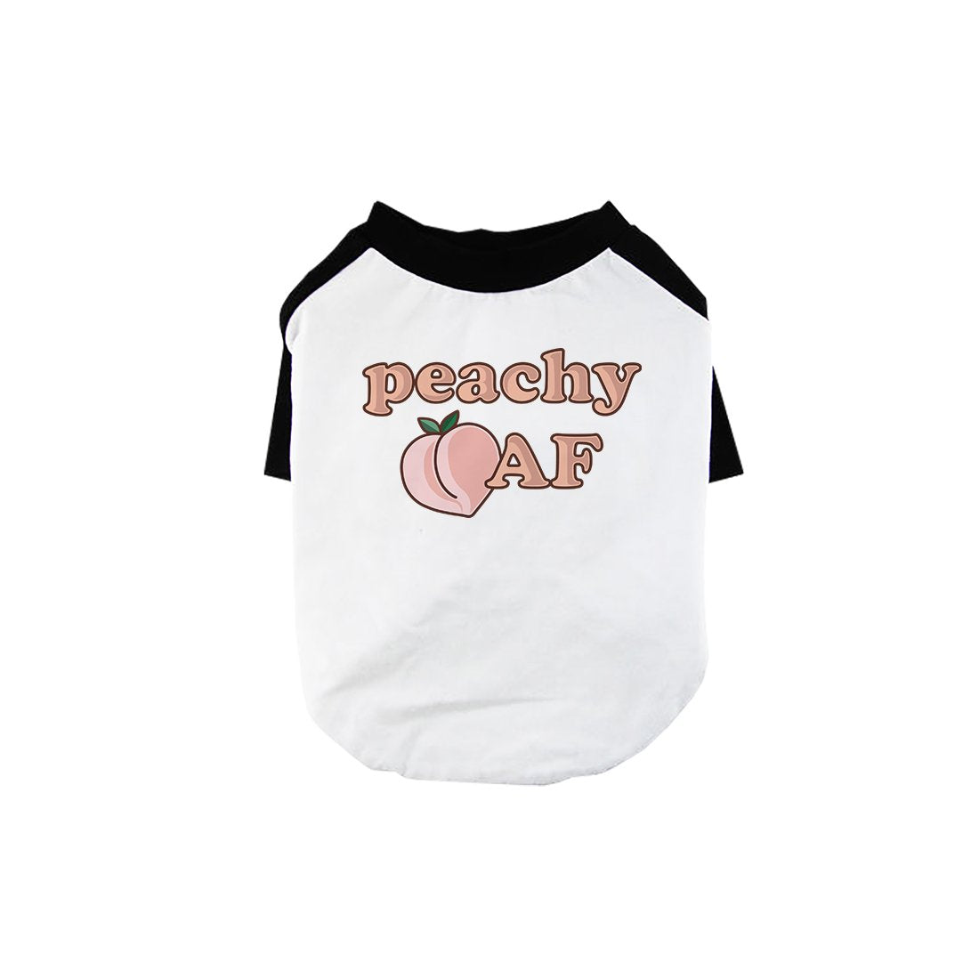 365 Printing Peachy AF Pet Baseball Shirt for Small Dogs Owners Cute Gift Ideas