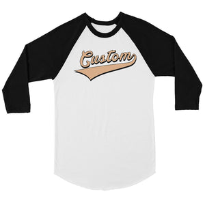 Orange College Swoosh Hip Cool Womens Personalized Baseball Shirt