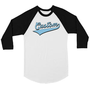 Blue College Swoosh Cute Calm Womens Personalized Baseball Shirt