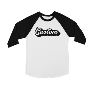 Pop Up Text Strong Fresh Kids Personalized Baseball Shirt