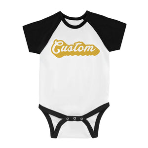 Yellow Pop Up Text Bright Lovely Baby Personalized Baseball Shirt