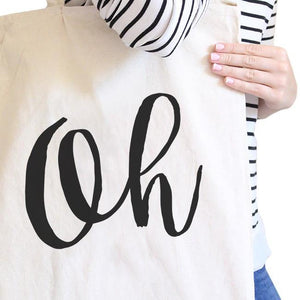 Oh Natural Canvas Bag Cute Calligraphy Eco Bags Gift For Students