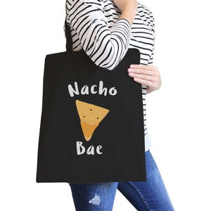 Nocho Bae Black Cotton Eco Bag Cute Design Gift Idea For Food Lover