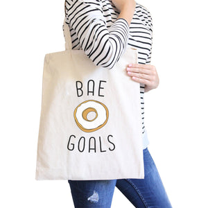 Bae Goals Natural Canvas Bag Cute Graphic Birthday Gifts For Him