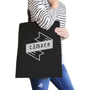 Camper Black Canvas Bag Cute Design Gift Ideas For Camping Lovers