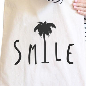 Smile Palm Tree Natural Cute Graphic Canvas Bag Funny Gift Ideas