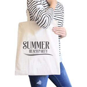 Summer Beach Party Natural Canvas Bags