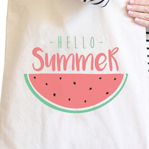 Hello Summer Watermelon Natural Canvas Bags