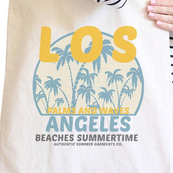 Los Angeles Beaches Summertime Natural Canvas Bags