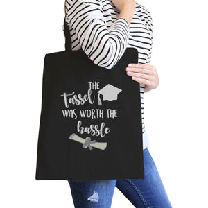 The Tassel Was Worth The Hassle Black Canvas Bags