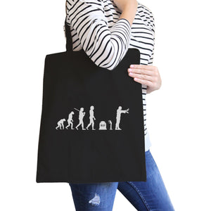 Zombie Evolution Black Canvas Bags