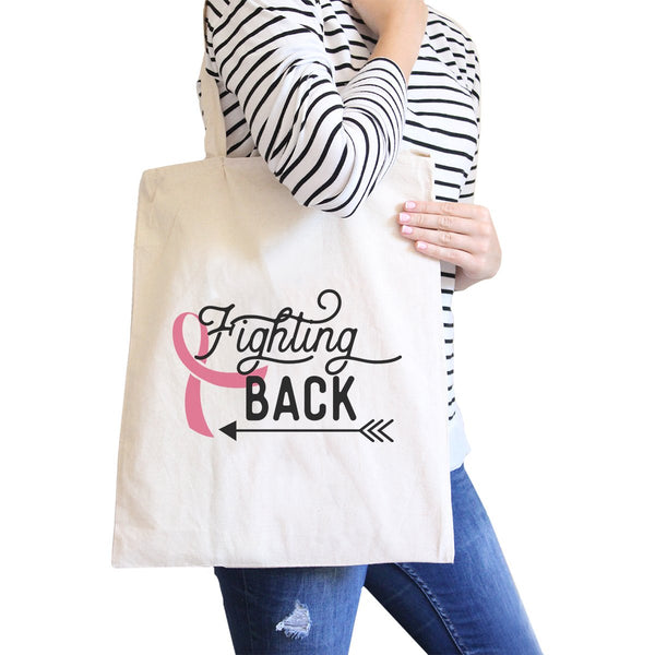 Fighting Back Arrow Natural Canvas Bags