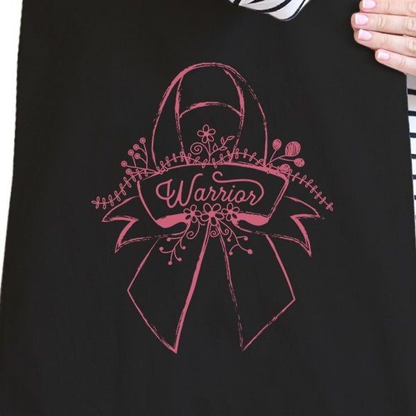 Warrior Breast Cancer Awareness Black Canvas Bags