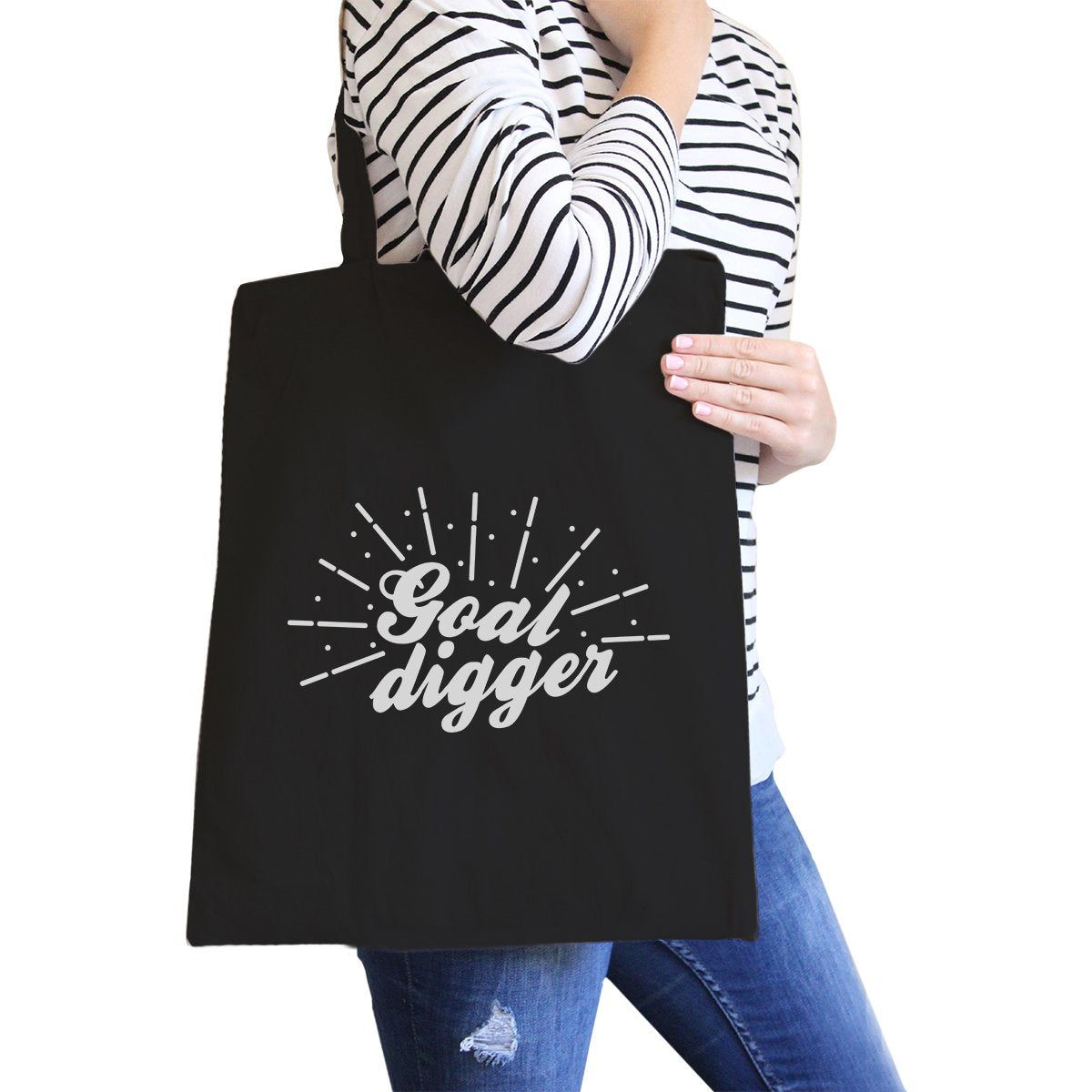 Goal Digger Canvas Shoulder Bag For Gym Fitness Workout Gag Gifts